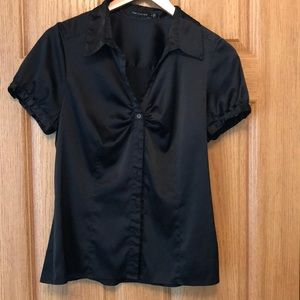 The Limited black silky button up top